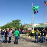 Stericycle flag raising ceremony at the Lakeside offices in Indianapolis, IN.