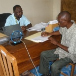 IRC's local implementing partners signing the contract in my office as Field coordinator.