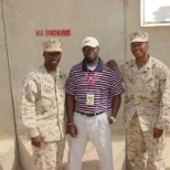 GySgt Adams, Andre Brown and GySgt Williams