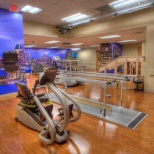 The state-of-the-art gym at the new Louis & Phyllis Friedman Neurological Rehabilitation Center.