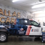 Asbury Automotive Group photo: UTI Dallas proudly presents the official David McDavid sponsored truck to their students!