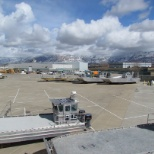 "Great Salt Lake Brine Shrimp Cooperative, Inc. photo: Arial View of our ""Parking Lot"""