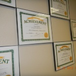 My achievement Award on the wall 2012
