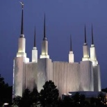 LDS Washington DC Temple by night