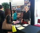 Corporate HR Team Members Adrienne and Jessica Answering Questions at UNLV's Fall Career Fair.