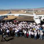 Virgin Galactic photo: WK2: WK2 is powered by 4 Pratt & Whitney PW308A engines