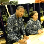 U.S. Navy photo: Old Navy Days putting in work