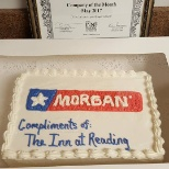 Thank you to Inn at Reading for recognizing Morgan as the company of the month.
