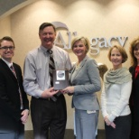 Allegacy Federal Credit Union photo: Allegacy receives the American Heart Association Platinum Level Fit-Friendly Workplace Award.