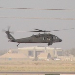 A helicopter passed by me as I was setting up an antenna in Iraq