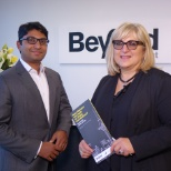 Beyond Recruitment's Chief Executive, Liza Viz (RIght) and Shamubeel Eaqub (left).