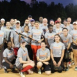 There are two Syneos Health teams competing in a softball league local to Morrisville, NC.