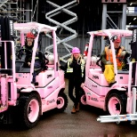 Special Pink Forklifts in support of Breast Cancer added to the Williams Machinery rental fleet.