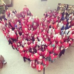 Advocate Health Care photo: Associates wear red for American Heart Month.