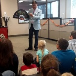 ClubRunner photo: Bring our kids to work day 2016 - magic show!
