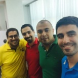 Dubai colleagues dressed colorfully for a Friday