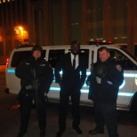 Me with 2 police officer of the precinct