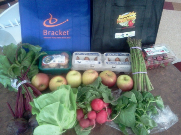 Bracket's Wayne office participates in a workplace Community Supported Agriculture program.