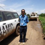 conducting patrol as a United Nation Police