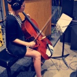 Session cello recording