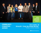Microsoft Awards Driscoll's CIO & team