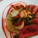 Trump Organization photo: Surf and Turf on valentines day