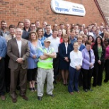 Improveit! Home Remodeling photo: Gangs all here! Meet our corporate office staff at Columbus, OH headquarters.