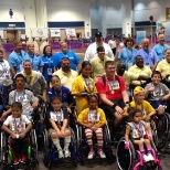 Employees at the annual wheelchair games in Tampa, Florida
