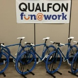 Bikes are available to take for a spin. They sit right in our main hall for all employees.