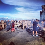 Cookout on the flight deck