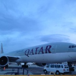 Prospect Airport Services photo: This is a picture made from the ramp. Qatar Airways Passanger aircraft