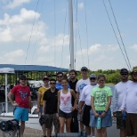 Interns spent the day at Hillsdale Lake learning about Garmin marine products.