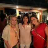 At a meet and greet for recruiters and travelers Amy met her traveler Chelsie (left) and her friend.