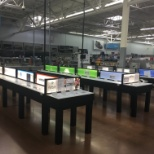 Electronics of the Future - took out the old sidecounters and installed display tables.