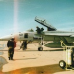 VFA-32's AC101 being fueled before launch.