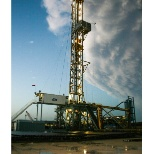 Devon Energy photo: One of my rigs after a severe weather event
