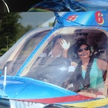 First time I was on the helicopter.