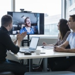 photo de Bell, A team meeting space equipped with videoconference.