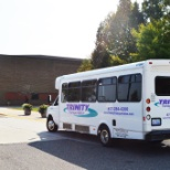 Trinity Transportation photo: One of our shuttles on a college campus
