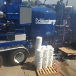 Measure Vibration of a Frac Pump of Schlumberger Equipment