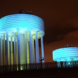 Scottish Water photo: Water Tower at night
