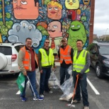 HDR photo: Cleaning up the East Village for the Earth Day Trash Bash