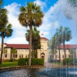 Beautiful campus, palm trees, and weather!