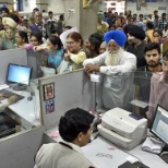 State Bank of India photo: People prefer branch banking in India