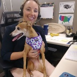 Take your dog to work day, Ashley and Ellie!