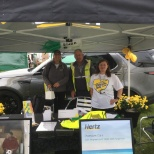 Our british collegues with a stand at a local show to promote their local offices.