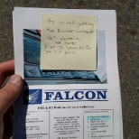 One of the many flyers left on an ambulance in a hospital parking spot to try and poach employees.