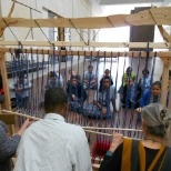 The Barnes Foundation photo: Teachers heddle at loom