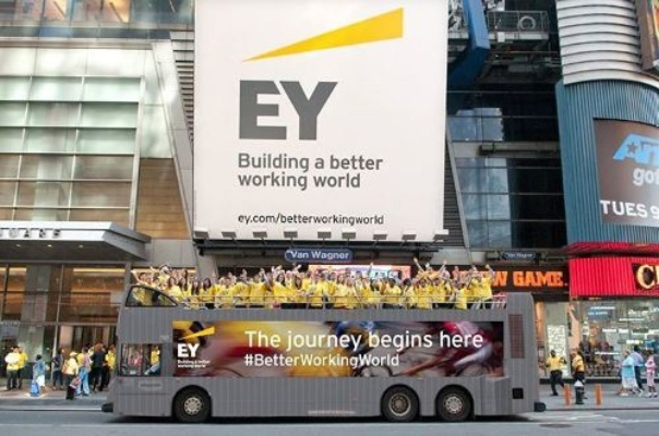 EY tagline: Building a better working world