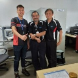 Photo with buddy(middle) and manager(right)